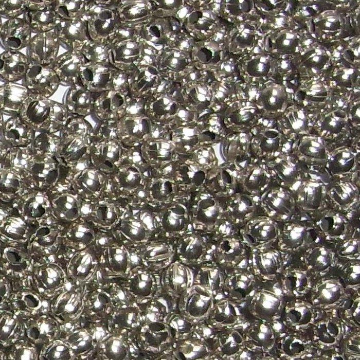 Messingblechperlen ø 4mm, Messing, verchromt, versilbert