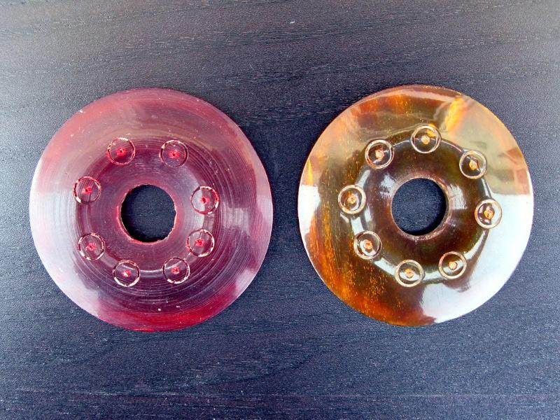 Hornscheiben für Halsketten ø 4 cm