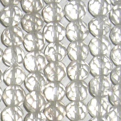 Bergkristall Perlen, facettiert / Kette