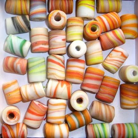 Marble-Beads, ca. 14x20mm. 250g./1000g. Sonderpr.