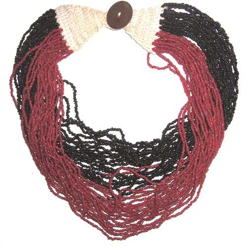 Multistringkette schwarz/rot