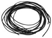 Lederbänder schwarz  2mm
