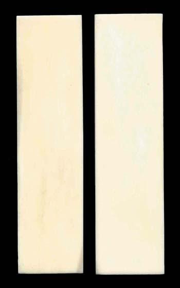 Knochenplatten für Messergriffe