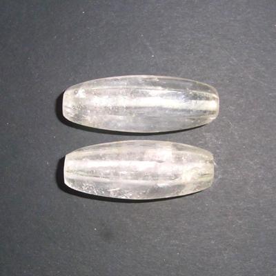 """Bergkristallperlen """"L"""", facettiert, 2st."""
