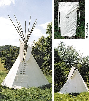 Tipi / Indianerzelt, ø 5m, imprägniert