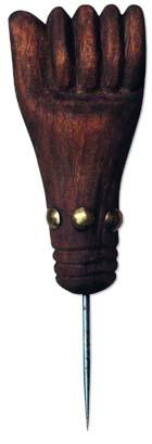 Ahle / Faustmotiv, gebogener Dorn