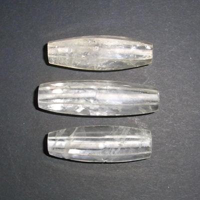 """Bergkristallperlen """"L"""", facettiert, 3st."""