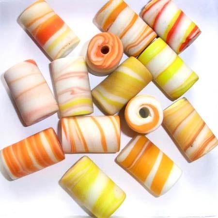 Marble-Beads, ca. 19x30mm. 250g./1000g. Sonderpr.
