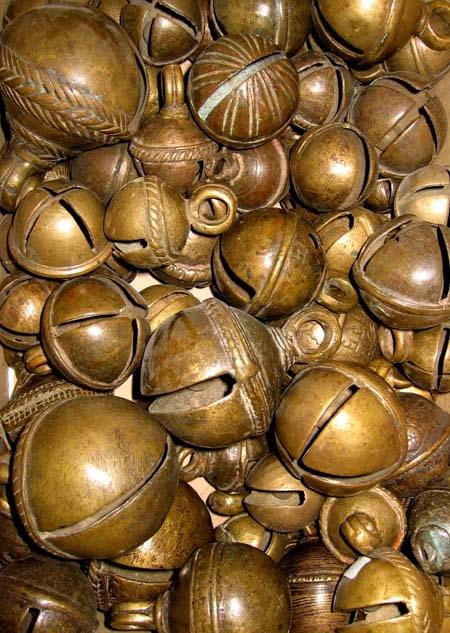 Alte Bronzeschellen, ø50-65mm