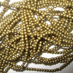Messingblechperlen, Seedbeadgröße 12/0, rund